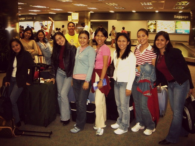 With my batchmates...Our arrival in North Carolina (2005)