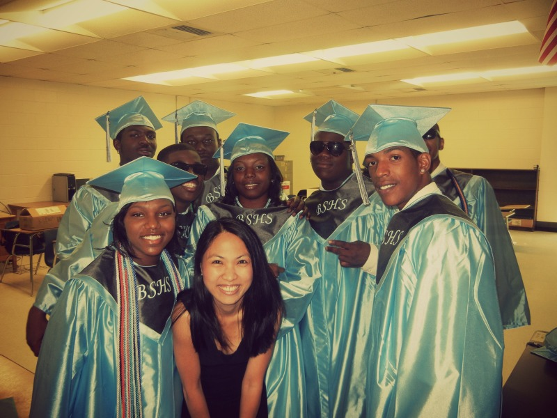 With the first graduating class of Bertie STEM HS (2011)